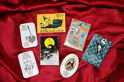 Collection of rare Nightmare Before Christmas original movie badges