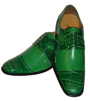 Liberty LS1045 Mens Spectator Fashion Dress Shoes Bright Forest Kelly Green
