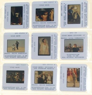 STAR WARS Episode II (2002) George Lucas Science Fiction Classic 9 rare slides