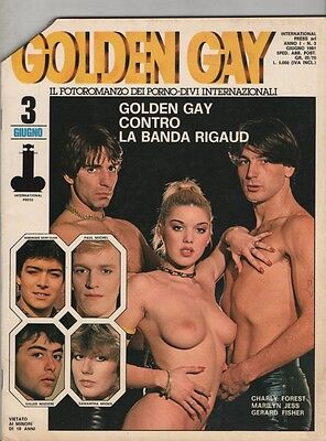 Rivista Erotica Erotic Magazine Fotoromanzo Golden Gay N.3 (Marilyn Jess)