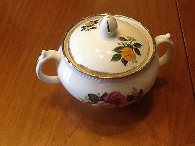 Rare Vintage June Bouquet Sugar Bowl