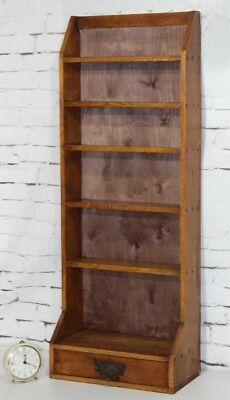 Vintage Oak Bookcase Display Shelving Unit - FREE Shipping [PL3897]