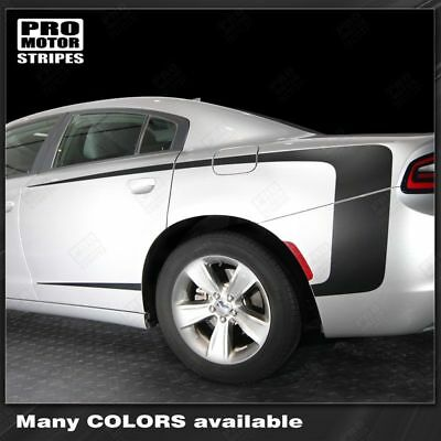 Dodge Charger 2011-2019 Rear Quarter Side Accent Stripes Decals (Choose Color)
