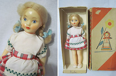 Russian Vintage Belorussian Doll,Plastic,Mir Factory,Minsk,USSR,60's.New In Box
