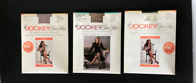 Vintage Lot of 3 Jockey For Her Pantyhose Size Medium Tall in various colors New