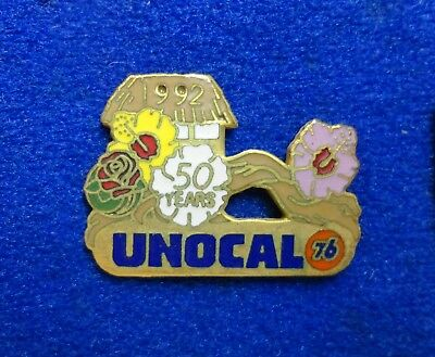 Old 1992 Unocal Union 76 Gas Oil Company Pasadena Rose Parade Flower Lapel Pin