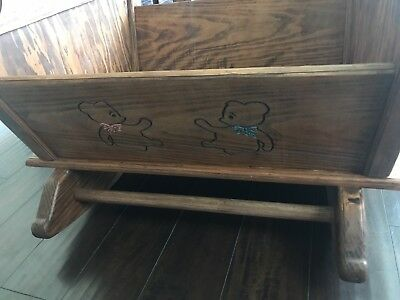 Sturdy Antique Baby Cradle