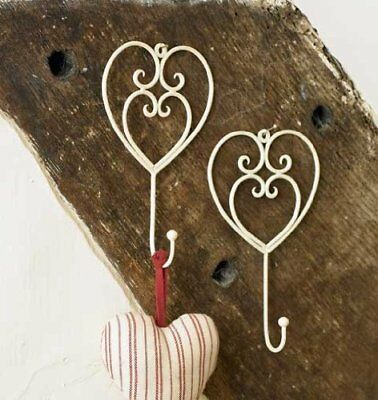 Cream Heart Metal Wall Coat Storage Hook One Hook - An Ideal Gift For A 6th - x