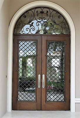 "Wrought Iron Entry Doors with transom by Monarch Custom Doors 72"" x 132"""