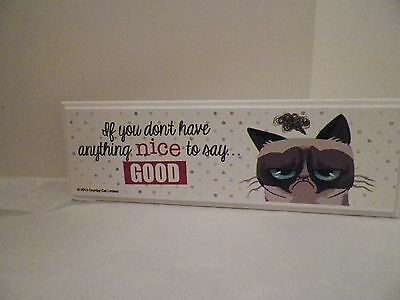Grumpy Cat Wooden Plaque - If You Don't Have Anything Nice To Say Good New