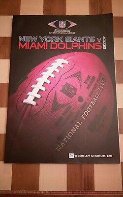 2007 NFL NEW YORK GIANTS v MIAMI DOLPHINS Wembley OFFICIAL PROGRAMME