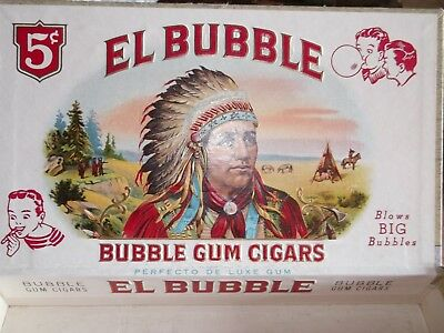 Vintage El Bubble Gum Cigars Box