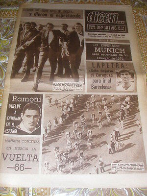 Rare Fairs cup 1966 game barcelona v chelsea semifinal printed day of the game