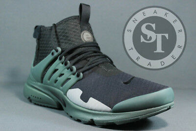 best website e8a99 7e194 Nike Air Presto Mid Sp Aa0868-003 Black Vintage Green Flat Silver Ds Size