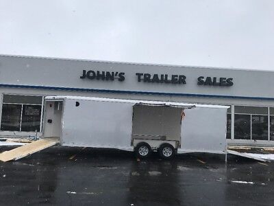 BRAND NEW 2018 8.5x24+4' NEO NCBS SPREAD AXLE CAR/SNOW/ATV/UTV TRAILER SNOW PACK