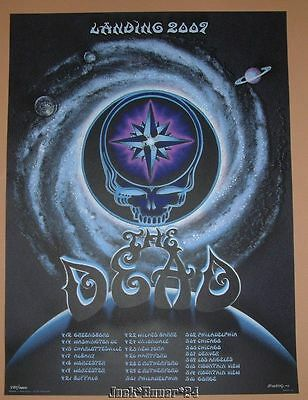 EMEK The Dead Spring 2009 Tour Poster Print S/N Glows in the Dark Darkstar Art