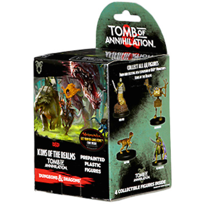 D&D Icons of the Realms Set 7 Tomb of Annihilation Booster (4 miniatures) sealed