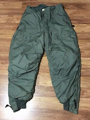 Vtg 1978 USAF Air Force Type F-1B Cold Weather Military Flight Trousers Pants 36