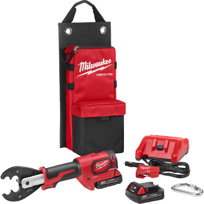 "Milwaukee 2678-22 M18 18V FORCE LOGIC 6T Utility Crimper Kit with D3 Groves ""Snu"