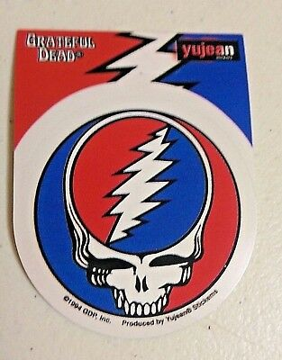 "(#119) Small Grateful Dead STEAL YOUR FACE 2.5"" round sticker (#408) ©GDP"
