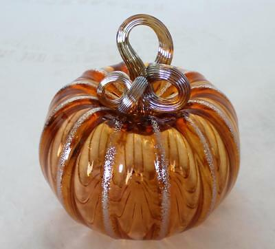 Hand Blown Glass Art Pumpkin Gourd Sculpture  7966 Oneil