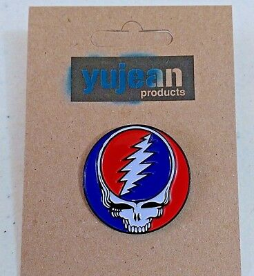 "Grateful Dead STEAL YOUR FACE 1-1/4"" Enamel Pin (#1023)"