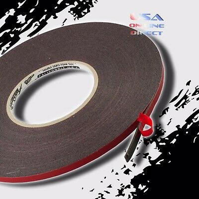 """Double Sided acrylic Foam High Strength Adhesive Tape 60 Ft of 1/4"""" Width roll"""