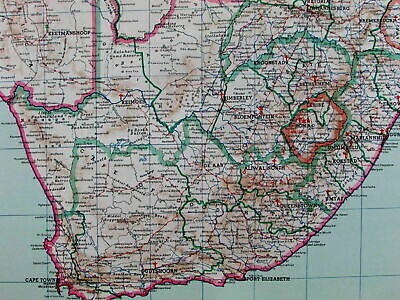 South Africa Botswana Christian missionaries Vaticana c.1953 large old map