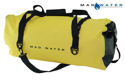 Mad Water – Classic Roll Top Waterproof Duffel Bag, 60L, Yellow, M46005
