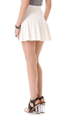 NEW BCBG MAXAZRIA Valeria Ruffle Hem Skirt SZ S Authentic color Beige Gardenia