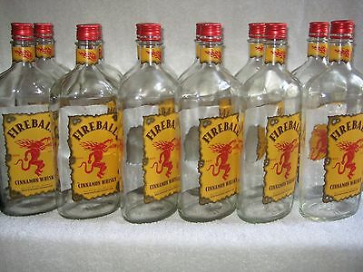 (12) FIREBALL Whiskey Bottles w/ Caps FREE SHIPPING!