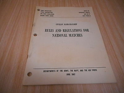 Civilian Marksmanship Rules & Regulations for National Matches Manual, 1967 WOW