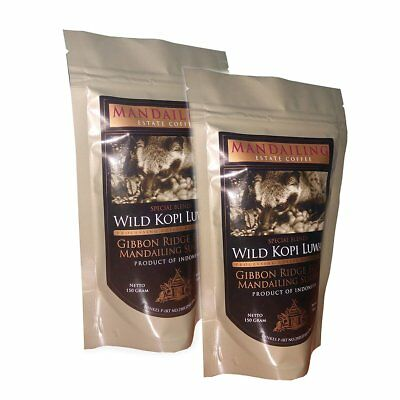 Mandailing Estate Sumatra Coffee Wild Kopi Luwak Blend Powder Mandheling 150g