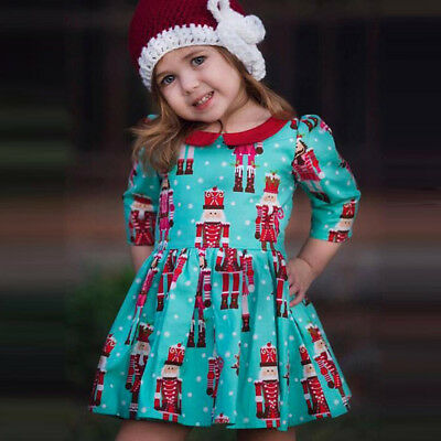 Toddler Kids Baby Girls Cartoon Princess Party Dress Christmas Outfits Clothes