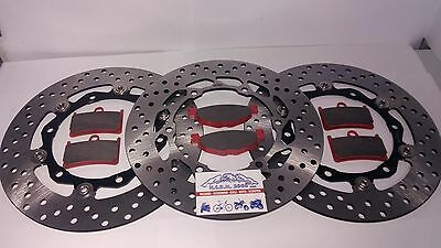 Set Front Brake Discs Floating Rear E Pads T Max 500 2010