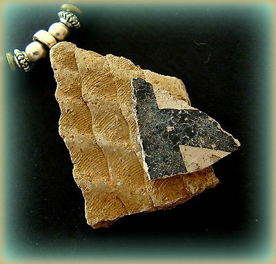 ANASAZI POTTERY SHARD PENDANT NECKLACE w/ Beads - TWO SHARDS!