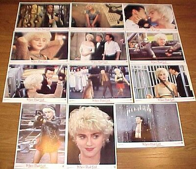 Madonna Who's That Girl Spanish lobby card set 12 Griffin Dunne Haviland Morris