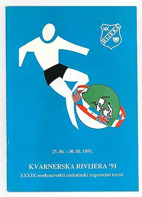 1991, Youth Tournament In Rijeka ! Mint, Official Programme !