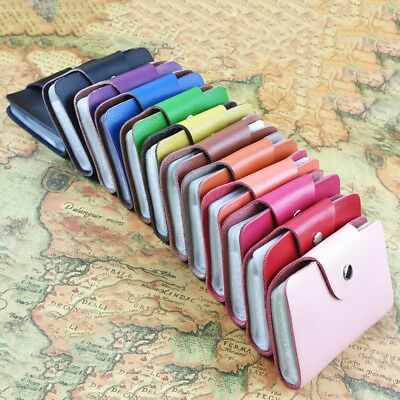 Women 26 Card ID Credit Card Holder PU Leather Pocket Purse Wallet Lovely S
