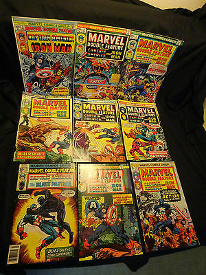 Marvel Double Feature Iron Man Captain America Lot of 9 Issues