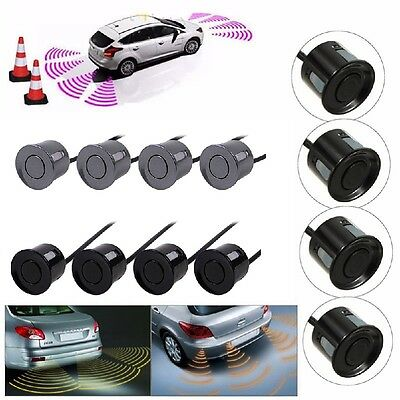 Car Reverse Parking Sensor Rear 4 Sendors LCD Display Audio Buzzer Alarm Pro.