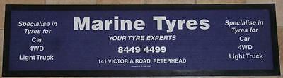 Collectible Marine Tyres Your Tyre Experts Rubber Back Bar Runner - Exc
