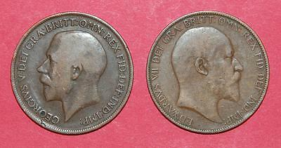 Two older English Large Pennies 1903 & 1915