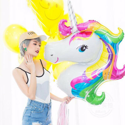 Large Unicorn Horse Inflatable Foil Balloon Birthday Party Room Decor Supershape