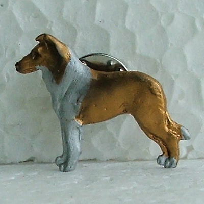 Smooth Collie Sable Lapel Pin Dog Breed Jewellery Handpainted Handcrafted