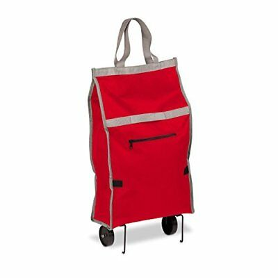 Honey-Can-Do CRT-05386 Fabric Rolling Bag Cart with Handles, Holds Up To
