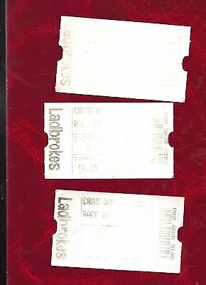 3 Crayford greyhound dog racing tickets 1999 (very faded)