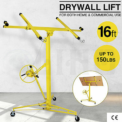 Drywall Lift 16' 19' Panel Hoist Jack Rolling Caster Construction Lockable Tool