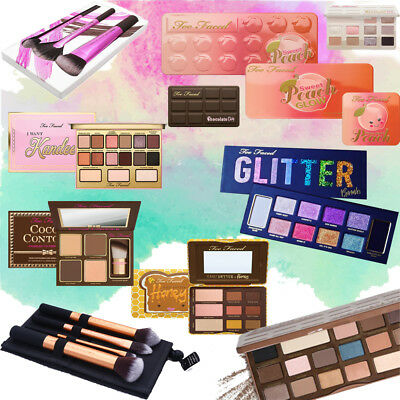 Too Faced Palette Collection Exotic Shimmer Eye Shadow Travel Essentials Brush