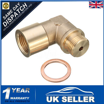Brass O2 Oxygen Sensor Extender 90 Degree Angled Bung Extension Spacer M18 X 1.5
